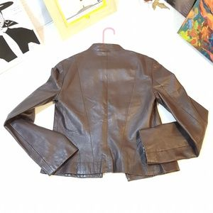 Mango Jackets & Coats - ManGo Brown Lamb Leather Jacket
